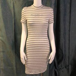 BEBE cotton striped dress